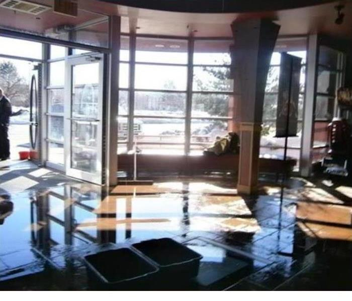 Flood Water Enters Restaurant  Before
