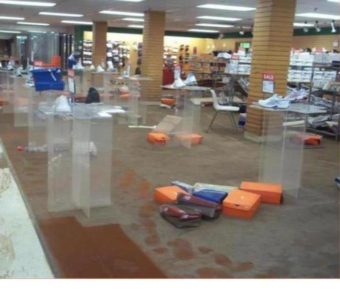 Flood Waters Rise In Department Store Before